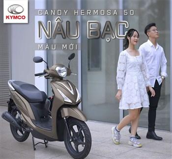 Giá bán mẫu xe Candy Hermosa 50CC màu nâu bạc mới năm 2021