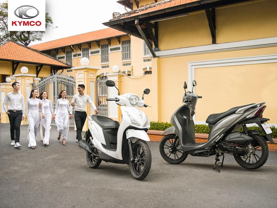Xe ga Kymco - thiết kế nhỏ gọn, trọng lượng phù hợp với các bạn học sinh