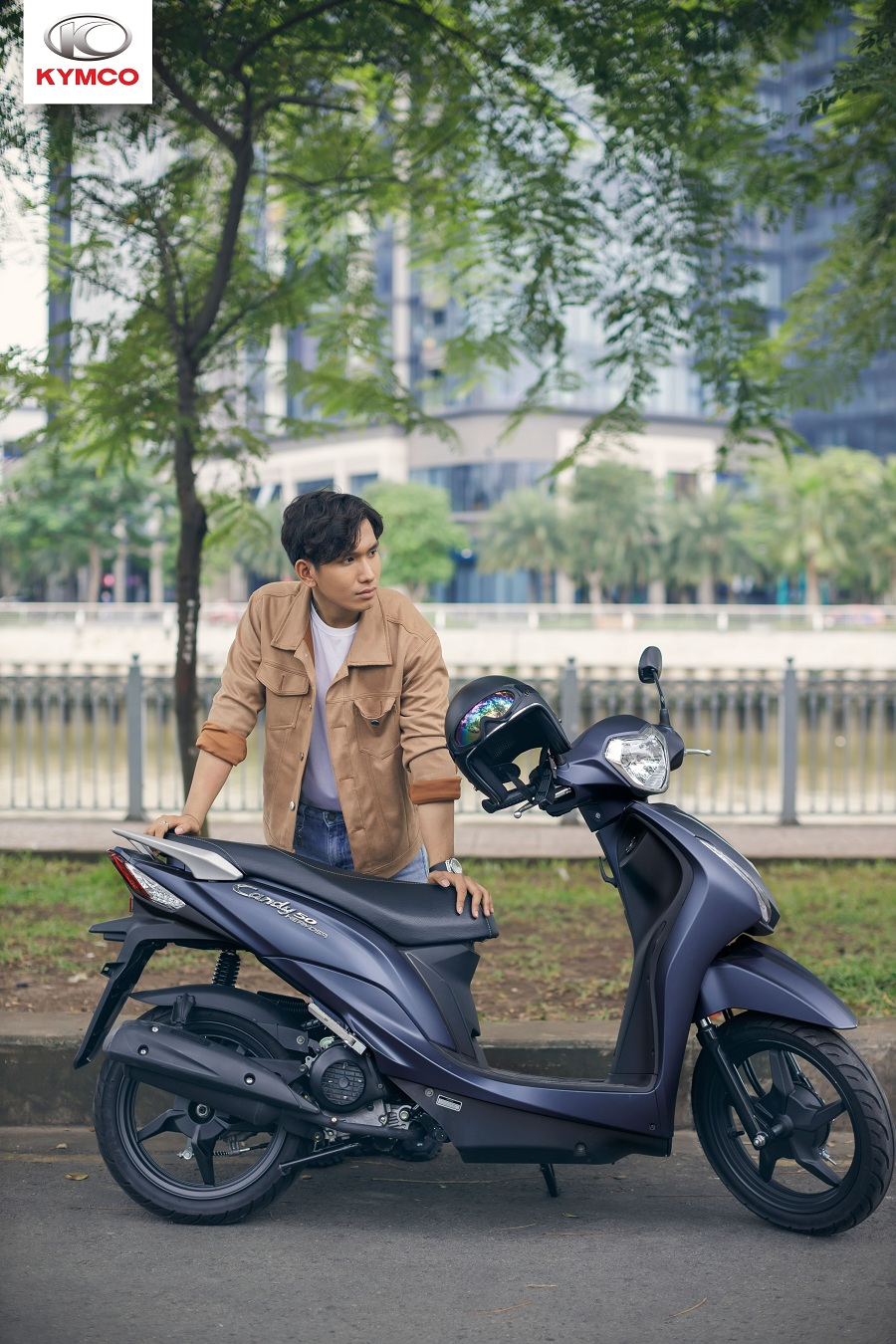 Xe ga 50cc Kymco phù hợp với những người có chiều cao khiêm tốn