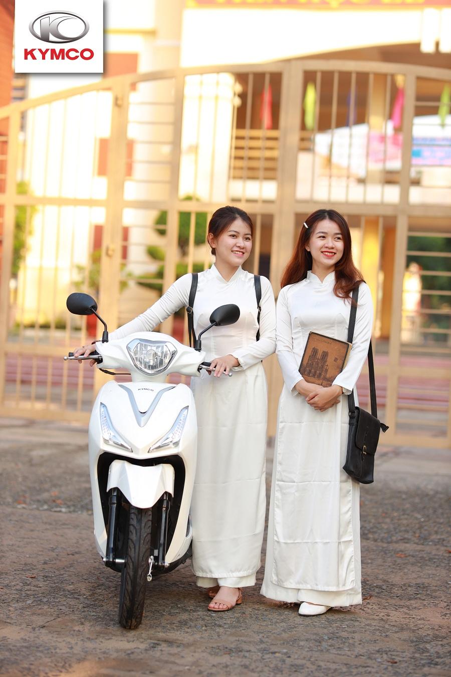 Xe máy ga kymco được các bạn học sinh ưa chuộng