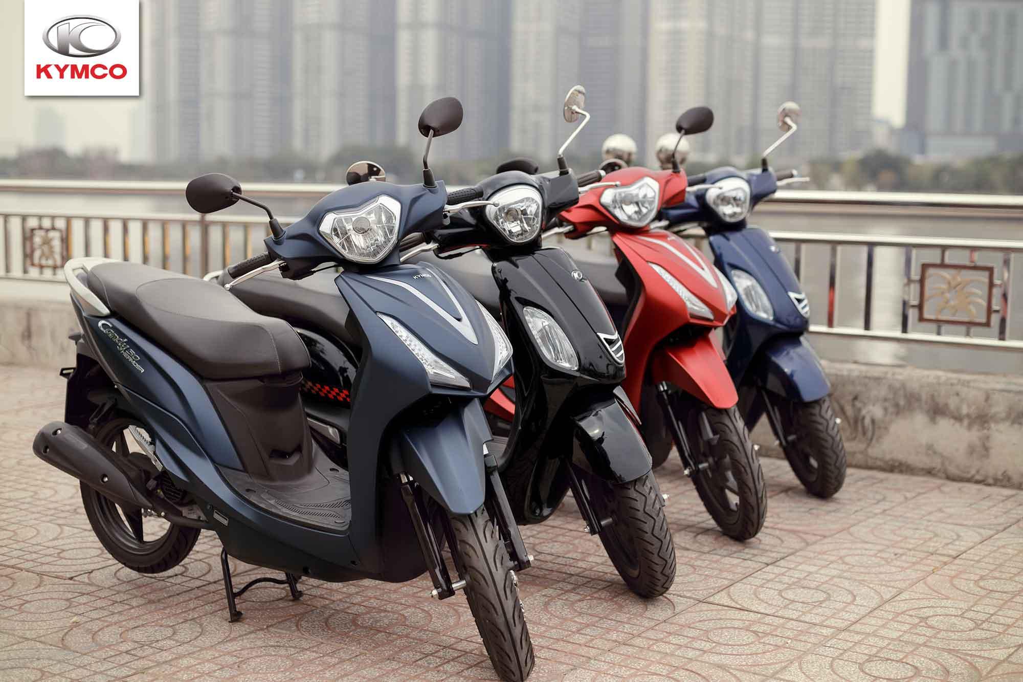 Xe máy Kymco với sản phẩm đa dạng hơn về mẫu mã cùng như giá thành