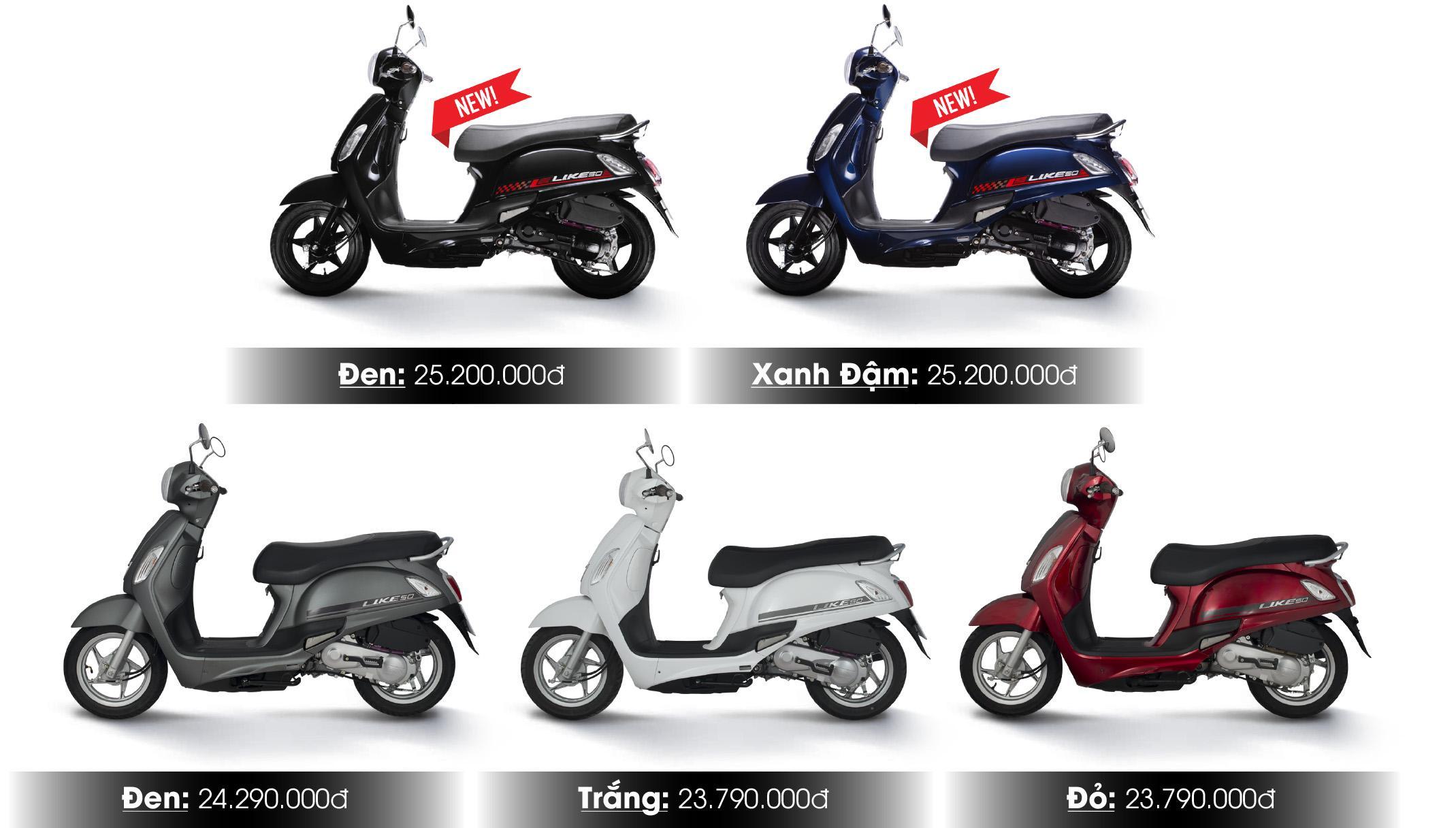 Like 50cc giá bán mới nhất năm 2021