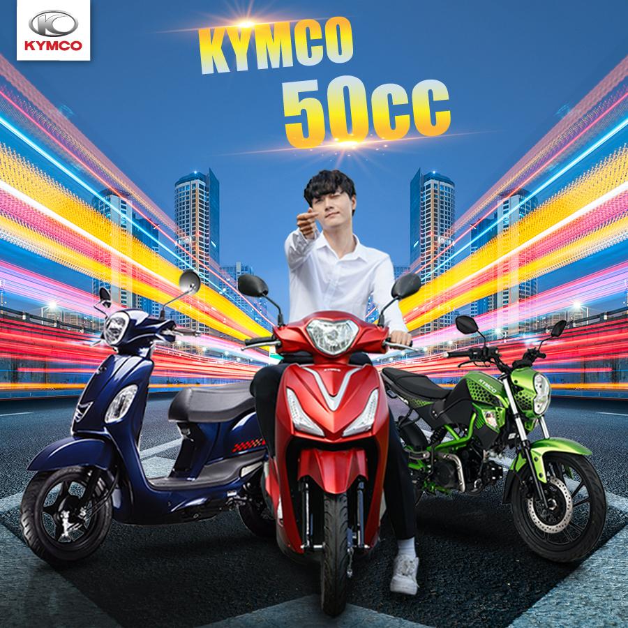 Xe máy không bằng lái thương hiệu Kymco phù hợp cho các bạn học sinh