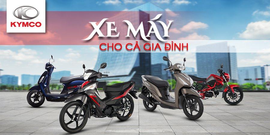 Xe máy Kymco 50cc phong phú về mẫu mã giúp bạn dễ dàng chọn lựa