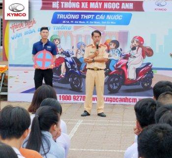 Hệ thống xe máy Ngọc Anh: Tuyên truyền văn hoá giao thông đến hơn 1.300 học sinh