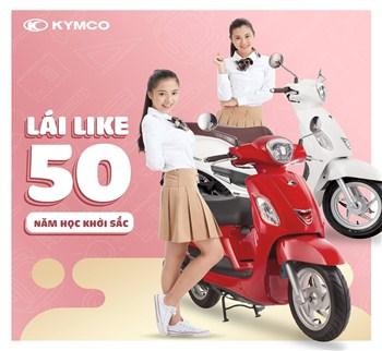 Bộ đôi xe ga 50cc đẹp của KYMCO dành cho học sinh sinh viên